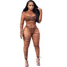 Для женщин Bodycon Clubwear комбинезоны с леопардовым принтом с длинными рукавами, сетка прозрачный уличная мода, Вечеринки Комбинезон
