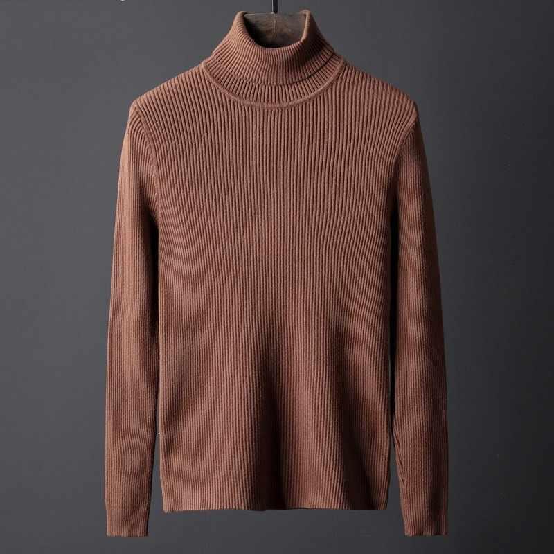 겨울 새로운 망 터틀넥 브랜드 패션 솔리드 컬러 긴 소매 두꺼운 스웨터 니트 스웨터 남성 플러스 크기 4XL 당겨 옴므