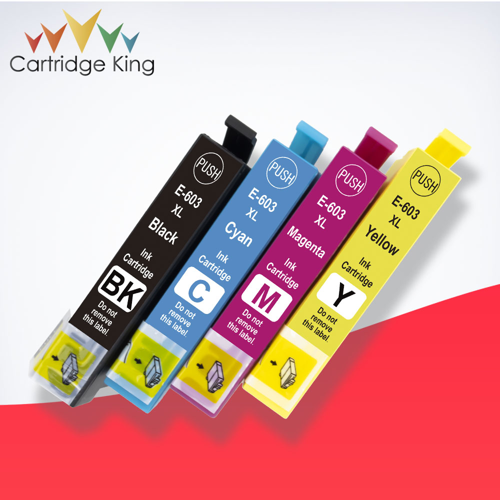 Cartridge King T603XL 603XL Ink Cartridge Compatible for <font><b>Epson</b></font> <font><b>XP</b></font>-<font><b>2100</b></font> <font><b>XP</b></font>-2105 <font><b>XP</b></font>-3100 <font><b>XP</b></font>-3105 <font><b>XP</b></font>-4100 <font><b>XP</b></font>-4105 WF-2810 WF-2830 image