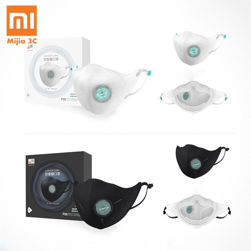 4Pcs Xiaomi AirPOP Filter Mask 98.2% PM 2.5 With Ventilating Valve Long-lasting Anti-haze Comfortable Face Mask For Man Women