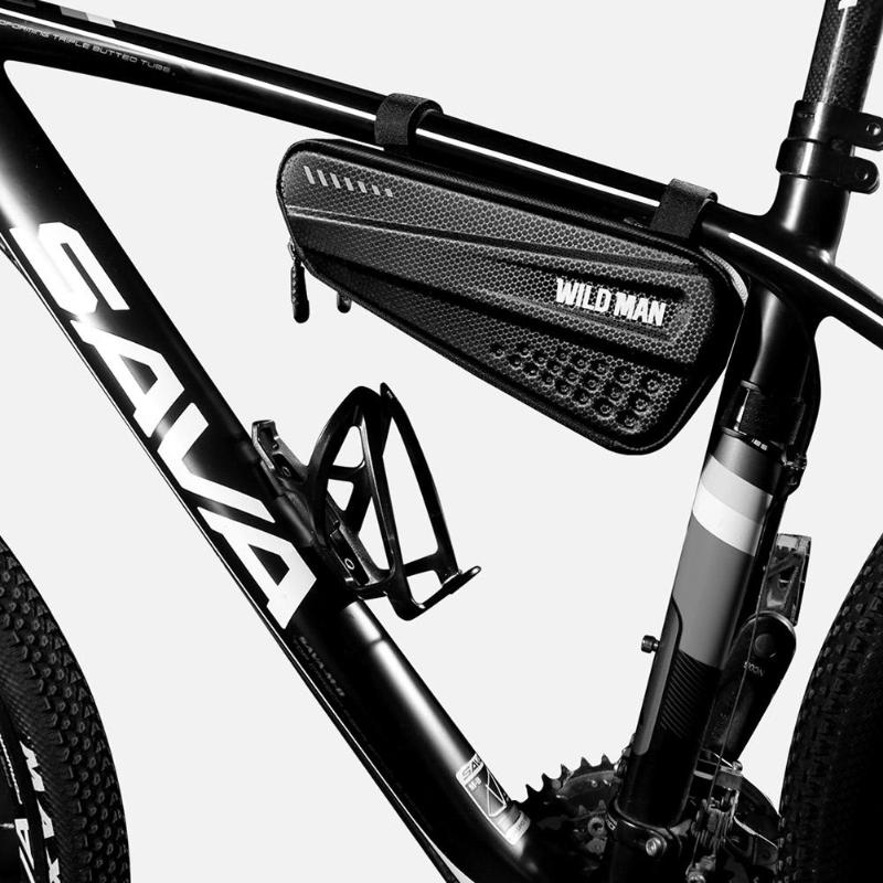 WILD MAN New Hard <font><b>Bicycle</b></font> <font><b>Bags</b></font> MTB <font><b>Bike</b></font> Mobile Phone Case Cycle <font><b>Frame</b></font> Front Head Top Tube Triangle Pouch Cycling Accessories image