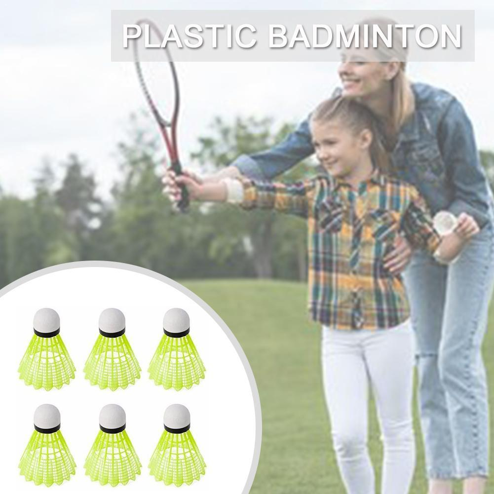 3/6/12Pcs Plastic Shuttlecock Badminton Nylon Material Ball Ball Badminton Training Badminton Special H0K5