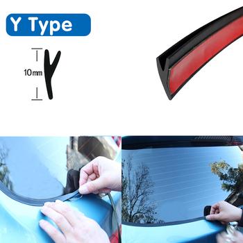 Y typ gumowa uszczelka samochodowa okno samochodu uszczelniacz gumowy dach szyba przednia Protector paski uszczelniające tapicerka do przedniej szyby przedniej Auto tanie i dobre opinie LARATH Wypełniacze Kleje i uszczelniacze 0 05kg Door head rear auto bike Roof Rear Windshield 1 6cm BN8930 T 16MM type car sealing strip