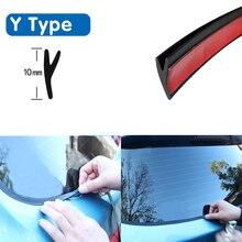 Y typ gumowa uszczelka samochodowa okno samochodu uszczelniacz gumowy dach szyba przednia Protector paski uszczelniające tapicerka do przedniej szyby przedniej Auto