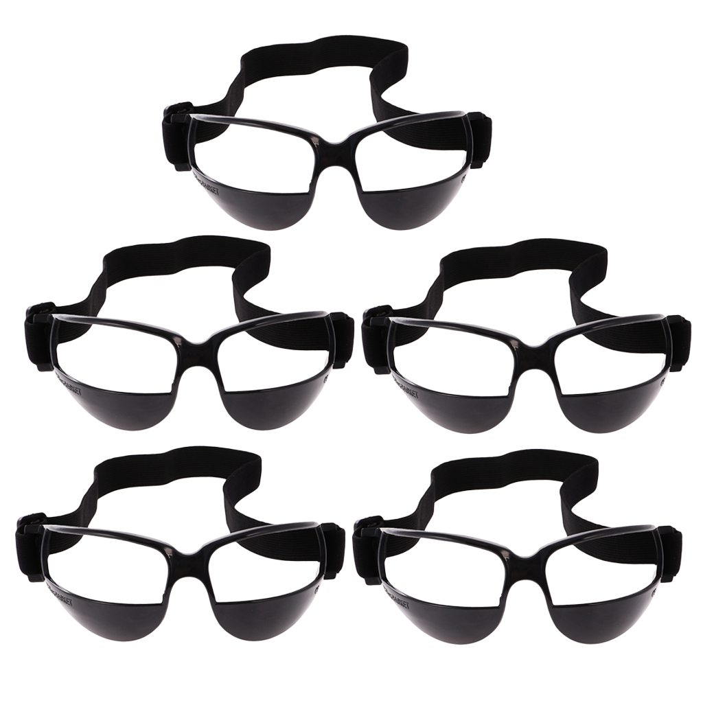5 Pieces Sports Basketball Dribble Specs Glasses Training Aid Supplies