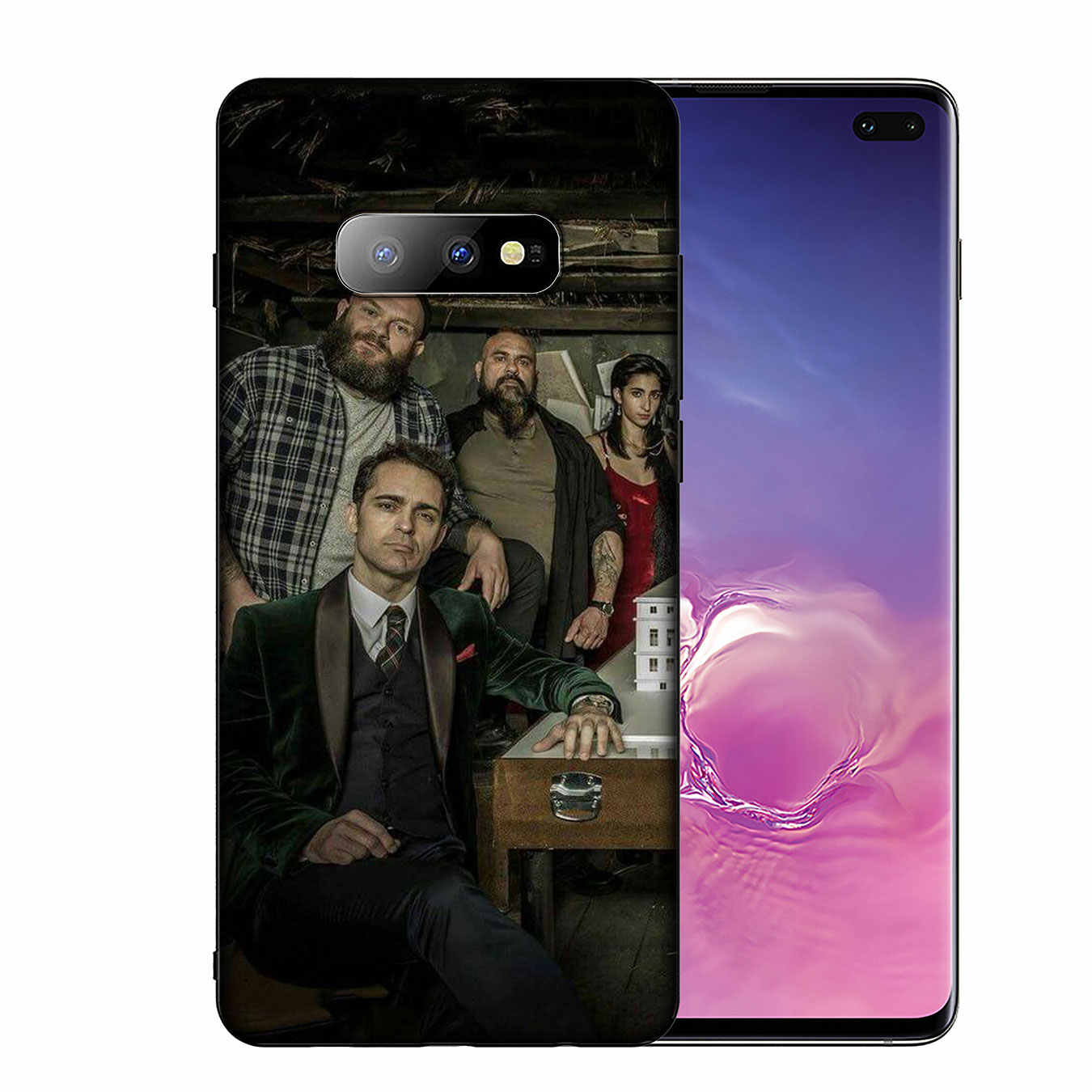 IYICAO ทีวีกระดาษเงิน Heist Soft TPU ซิลิโคนสำหรับ Samsung Galaxy S10 E S9 S8 Plus s6 S7 Edge S10e