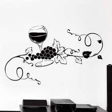 Cozinha criativa adesivos de parede para loja de vinho decalques de parede decoração para casa vinil mural arte adesivo na parede