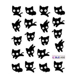 Image 3 - 11 تصاميم لطيف الباندا نمط ملصقات على الأظافر القط الأسود المياه الوشم المنزلق مسمار الفن الديكور التفاف كامل نصائح BEBLE1489 1499