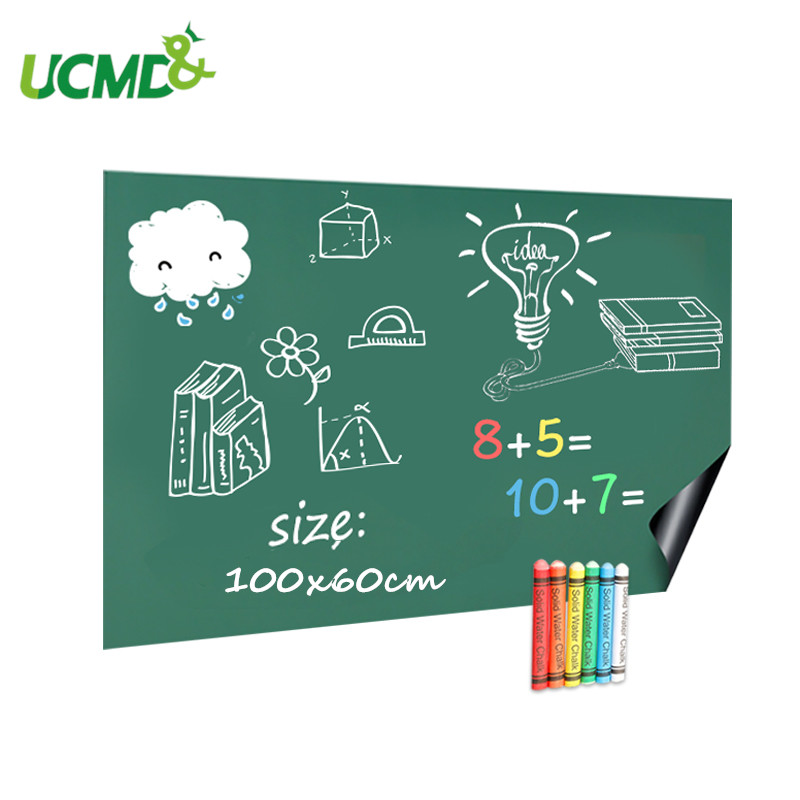 100x60cm Green Chalkboard Decor Stickers Removable Vinyl Draw Erasable Learning Painting Blackboard Office Notice Message Board