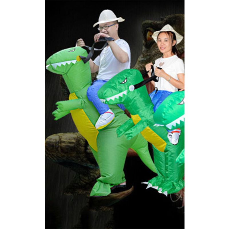 Inflatable Animal Dinosaur Halloween Party Costume Three-dimensional Rideable Dinosaur Mount Dress R7RB