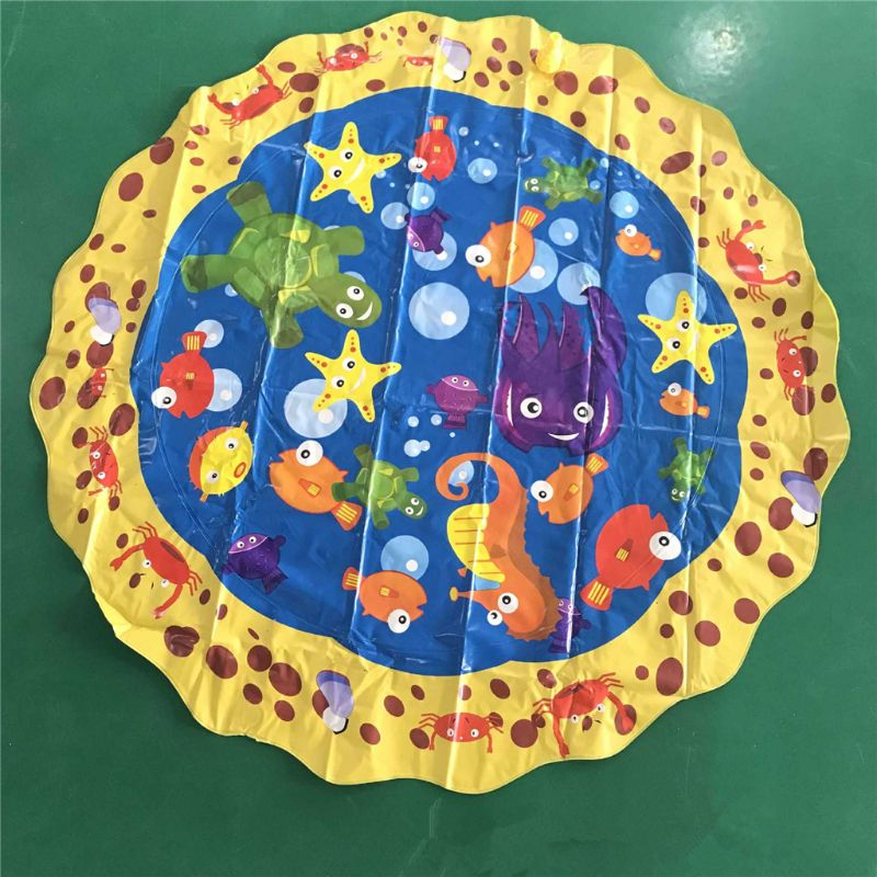 Sprinkle & Splash Play Mat Toy For Outdoor Swimming Beach Lawn Inflatable Sprinkler Pad Baby Children Kids   Q6PD