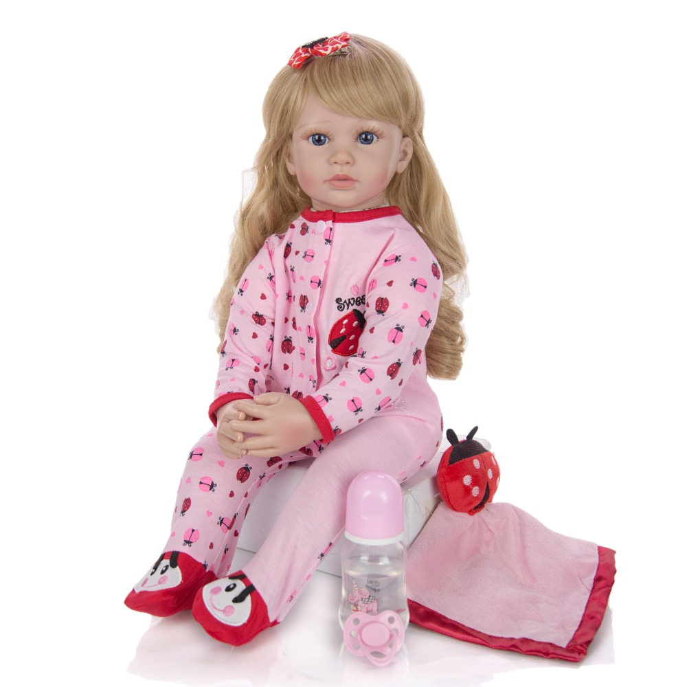 about <font><b>24inch</b></font> Bebe Reborn Doll soft cotton Body + Silicone Dolls Realistic girl Doll Simulation Kids Playmates Gift toy for kids image
