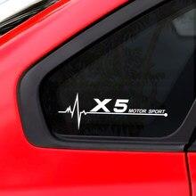 Calcomanía reflectante para ventana lateral de coche, pegatina impermeable para BMW X5, F15, E70, E53, G05, decoración deportiva, accesorios para coche, 2 uds.