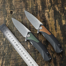 Petrified fish PF838 folding knife outdoor tactical pocket knives D2 steel G10 handle camping hunting defensive Cutter tool EDC
