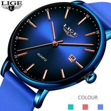 цена на 2020 New Mens Watches LIGE Top Brand Luxury Blue Waterproof Watches Ultra Thin Date Simple Casual Quartz Watch Men Sports Clock