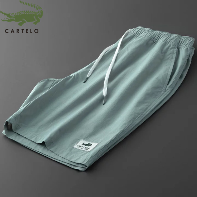 CARTELO Sport Shorts Men Cotton New Fashion Wild Comfortable Solid Color Straight Casual Beach Shorts