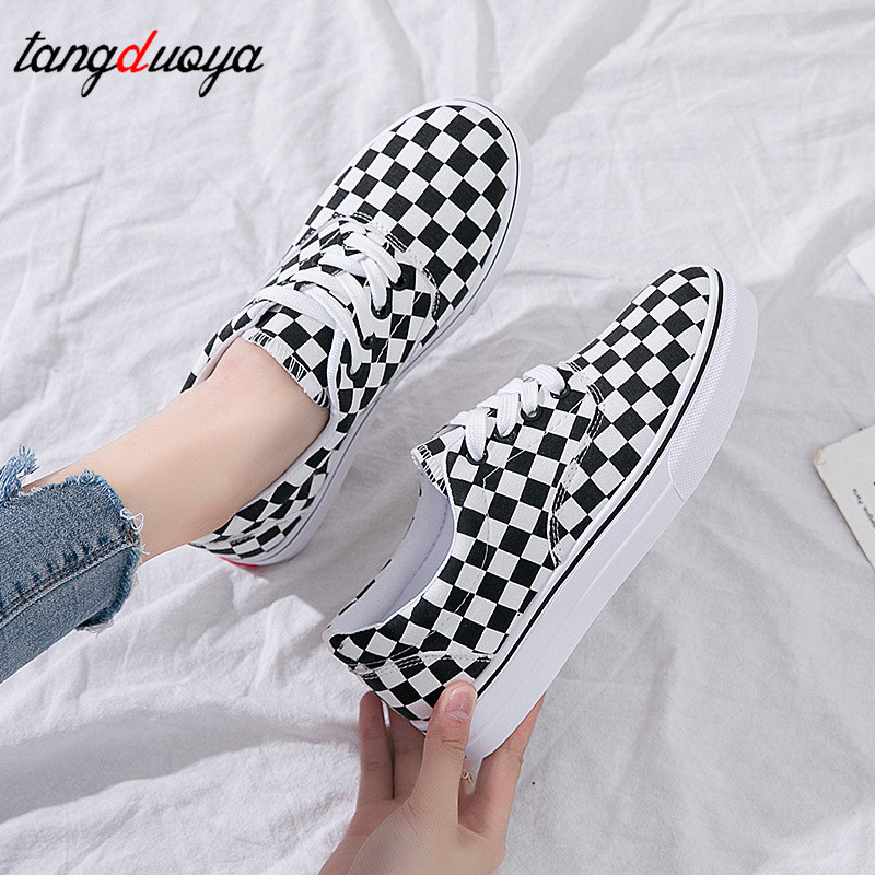 Womens Sneakers Canvas Shoes Fashion Flats Low-cut Lace-up Shoes Woman Casual Loafers Espadrilles Skatebarding Exercise Shoes
