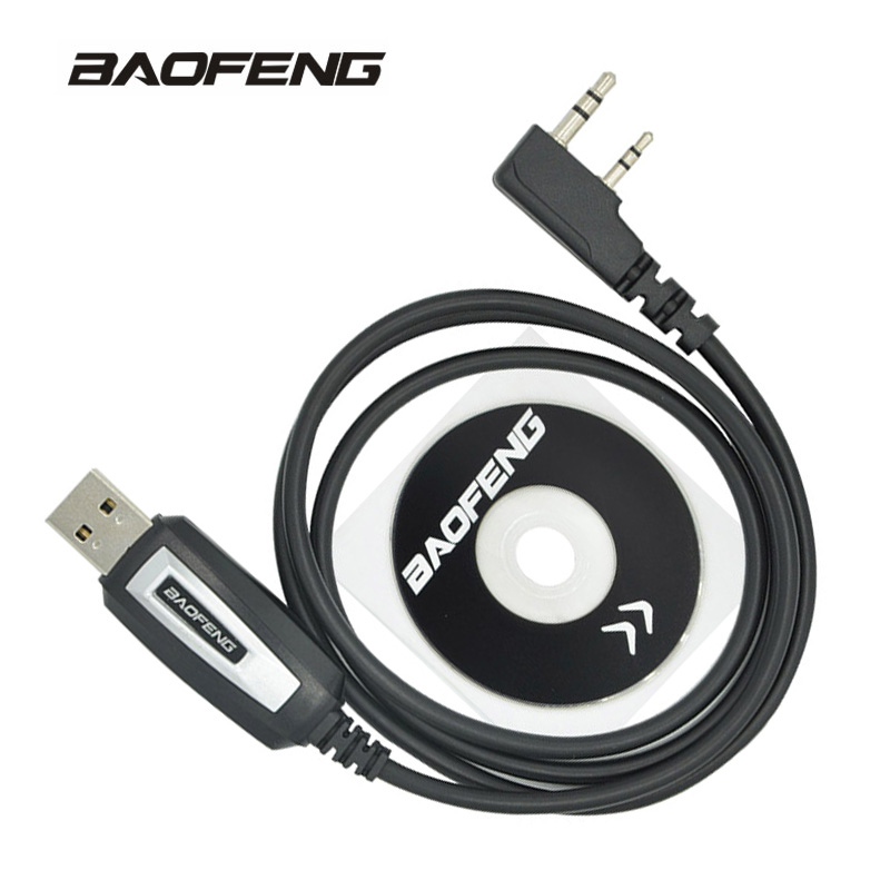Baofeng USB Programming Cable UV-5R Walkie Talkie Coding Cord K Port Program wire for BF-888S UV-82 UV 5R Accessories 1