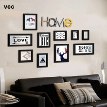 Wood Picture Frames For Wall Hanging With Letters,Picture Frame Wall Photo Frames Classic Wooden Frame For Pictures 100pcs paper photo frame set picture mats mini wooden clips string hanging cardboard picture frame for home room wall decor diy