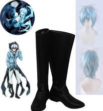 Anime Servamp Kuro Cosplay chaussures somnolent Ash Kuro chaussures Cosplay SERVAMP Kuro paresseux Cosplay bottes noir chaussures sur mesure toute taille(China)