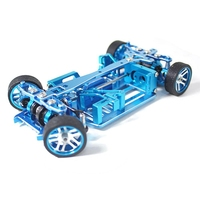 RC Car Frame 1/28 Mini Q Metal RC Car Frame Upgrade Parts with Differential Tire firelap 1/28