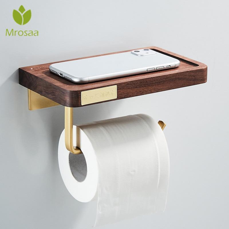 Brass Toilet Paper Holder Wall Mounted, Tissue Holder Bathroom