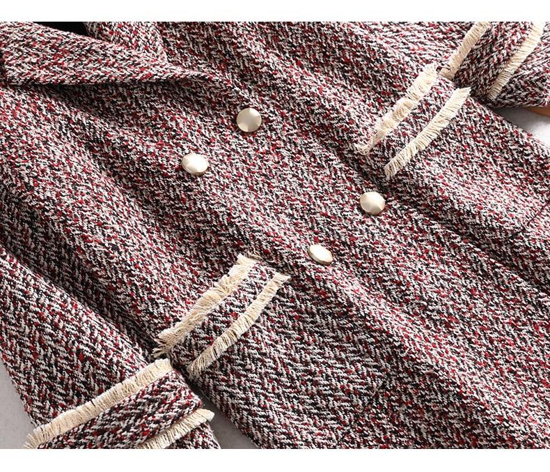 Nova moda inverno senhoras casaco de lã