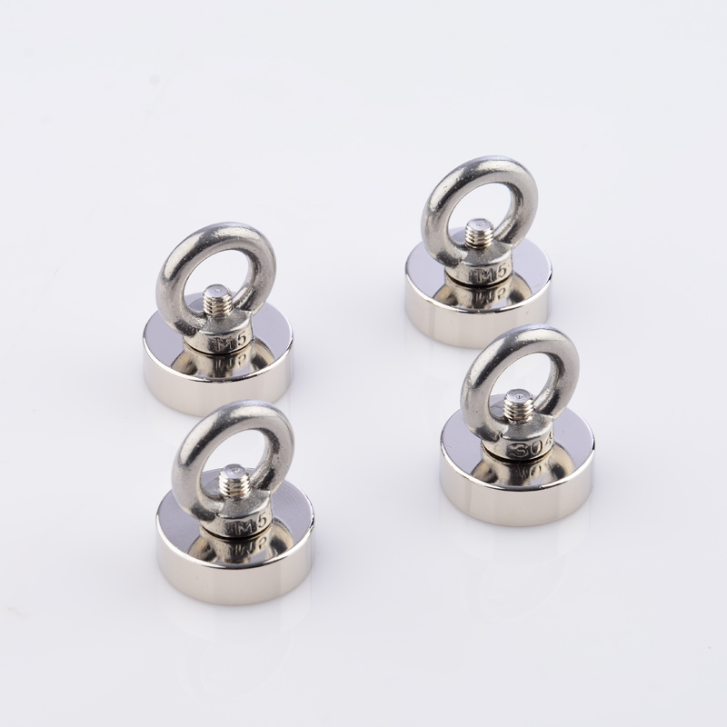 D25mm Strong Powerful Round Ring Neodymium Magnet Hook Salvage Magnet River Fishing Equipments Holder Pulling Mounting Pot