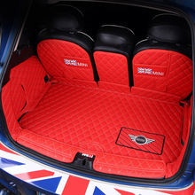 Car Trunk Mats leather Carpets For BMW MINI COOPER S F54 F55 F56 F57 F60 F60 CLUBMAN Car accessories interior decoration styling engine cover trunk cover line car stickers and decals car styling for mini cooper clubman f55 f56 sticker decoration accessories