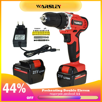 21v Rechargeable Screwdriver Cordless Drill Power Tools Hand Electric Drill Cordless Batteries Screwdriver Mini Battery Drill