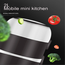 Mini Electric Rice Cooker Stainless Steel 2 3 Layers Steamer Portable Meal Thermal Heating Lunch Bento Box Food Container Warmer цена и фото