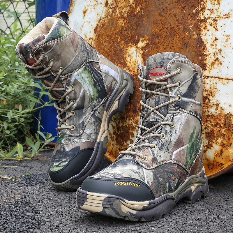 Military Army Men Boots Winter Lace Up Waterproof Combat Ankle Tactical Snow Boot Man Plus Big Size Work Shoes Mens