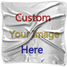 Noisydesigns Customized Logo Women Handkerchief Square Head Scarf Wraps