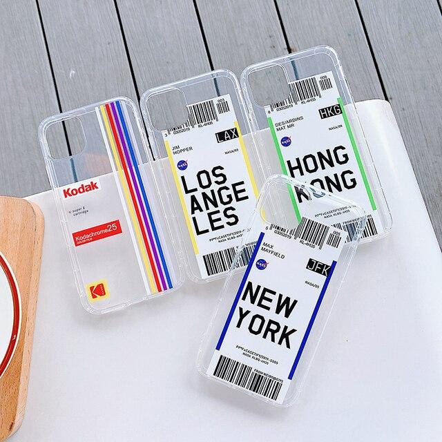 Nouvelle mode à la mode étui de téléphone portable en silicone souple transparent pour iphone 11 Pro X XS Max XR 8 7 6 6s Plus 8plus couverture de téléphone
