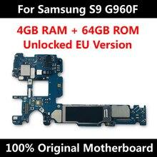 Carte mère de téléphone officielle pour Samsung Galaxy S9 G965F G960F G965U G960U G965FD G960FD carte mère déverrouillage IMEI OS carte mère