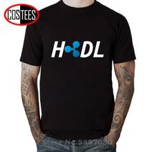 Футболка HODL Ripple XRP Coin Crypto Cryptocurrency Мужская футболка из чистого хлопка с коротким рукавом и круглым вырезом
