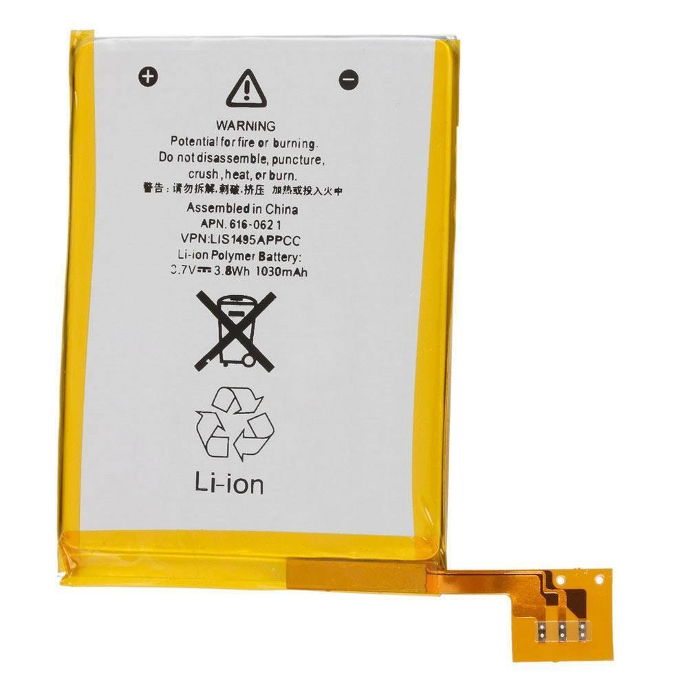 1030mAh 616-0621 / LIS1495APPCC Internal Replacement LI-ion Battery For iPod Touch 5th 5 5g Generation Batteries(China)
