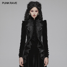 Short Coat Halloween-Jacket RAVE Gothic Long-Sleeved Black Women's with Club PUNK Exquisite