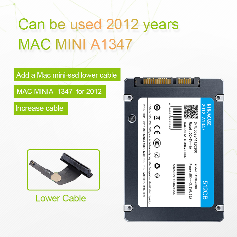 New 128GB 256GB 512GB 1TB 2TB SSD for Mac 2012 Mini A1347 with SSD plus converter plus tool Add a second solid state drive ssd 2010 2011 a1347 ssd title=