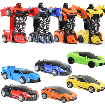 12-13cm Transformation Robot Kit Toys 2 in 1 one Step Deformation Optimus Hornets Police Model Vehicle Boy Toy Car beast king kong 5 in 1 deformation of robot five toy boy gift fit model page 8