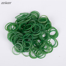 16*1.4mm Green Office Rubber Ring Rubber Bands Strong Elastic Bands Stationery Holder Band Loop School Office Supplies