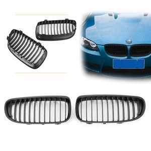 Car Front Kidney Grill Upper Grille For BMW 3 Series E90 Sedan & Wagon 323i 325i 328i 330i 335i 2009 2010 2011 Matte Black