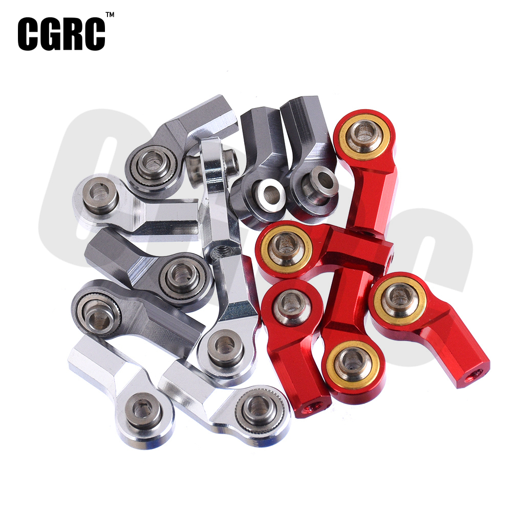 5pcs M3 Full Metal Ball Head Holder Bend Rod End For 1/10 RC AXIAL SCX10 D90 D110 CC01 Crawler Truck