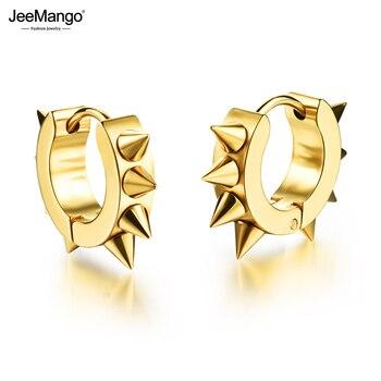 JeeMango Hiphop Rock Style Rivet Design Hoop Earrings For Men 316L Stainless Steel Boy Earrings Jewelry.jpg 350x350 - JeeMango Hiphop/Rock Style Rivet Design Hoop Earrings For Men 316L Stainless Steel Boy Earrings Jewelry 3 Color Ohrringe JOGE316