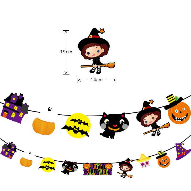 Halloween décoration bannière Topper 3D PVC chauve-souris autocollant mural Halloween fête bricolage décor Bar chambre Halloween fête effrayant Decos accessoires
