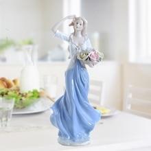 Europe Ceramic Beauty Figurines Home Furnishing Crafts Decoration Western Porcelain handicraft Ornament Wedding Gift A