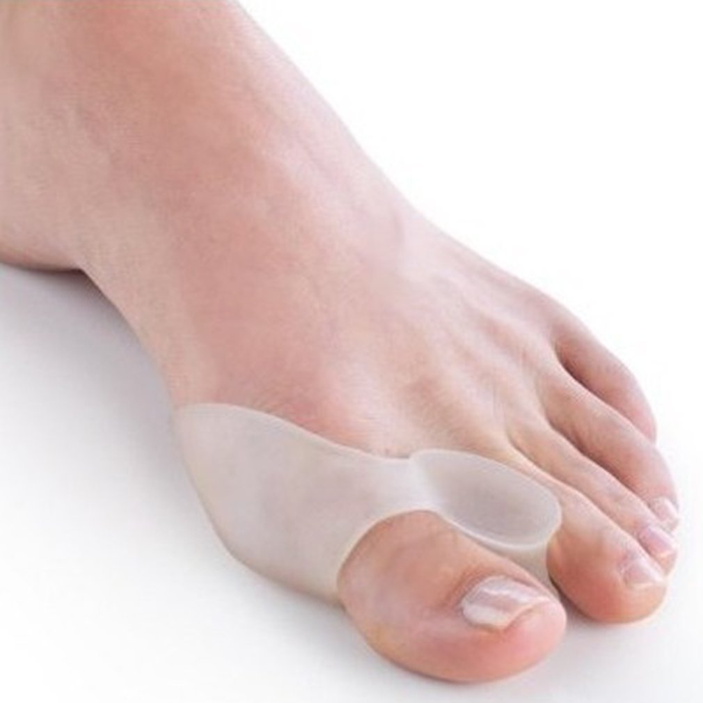 Silicone Valgus Hallux Braces Gel Insoles Big Toe Corrector Foot Bunions Care Toe Separator Toes Rehabilitation Tool
