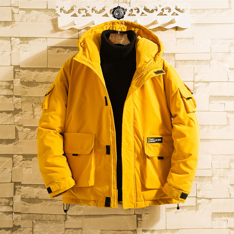 YASUGUOJI New 2019 Safari Style Mens Hooded Winter Jackets Thicken Warm Cotton Padded Mens Winter Jackets And Coats Hiver Homme