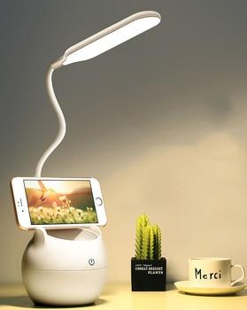 Table Lamp Led USB Rechargeable Desk Lamp Eye Protection Learning Children Bedroom Bedside Lamp Battery 3500mAh 1