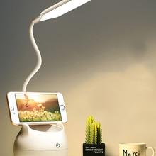 Lampada da tavolo Led lampada da scrivania ricaricabile USB protezione degli occhi apprendimento camera da letto per bambini lampada da comodino batteria 3500mAh